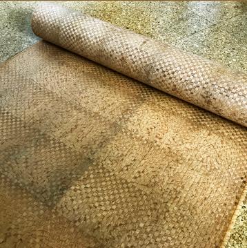 木編み生地の完成です。